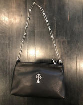 CHROME HEARTS Unisex Studded Street Style Plain Shoulder Bags