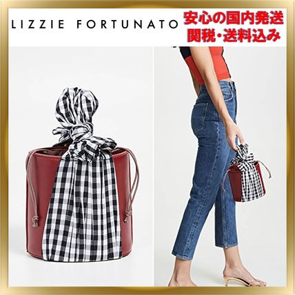 Gingham Plain Leather Purses Elegant Style Handbags