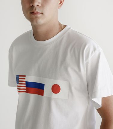 Gosha Rubchinskiy More T-Shirts Unisex Street Style Plain Cotton Short Sleeves T-Shirts 3