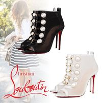Christian Louboutin Open Toe Casual Style Pin Heels Ankle & Booties Boots