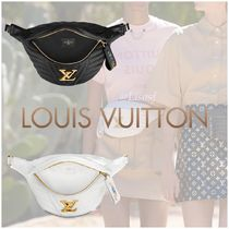 Louis Vuitton BUMBAG Blended Fabrics 2WAY Plain Leather Elegant Style