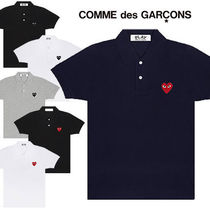 COMME des GARCONS Heart Casual Style Unisex Street Style Cotton Short Sleeves
