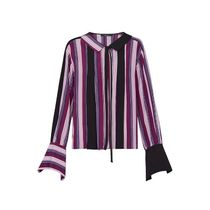 Louis Vuitton Stripes Silk Street Style Long Sleeves Shirts & Blouses