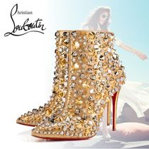 Christian Louboutin Plain Toe Studded Pin Heels Party Style