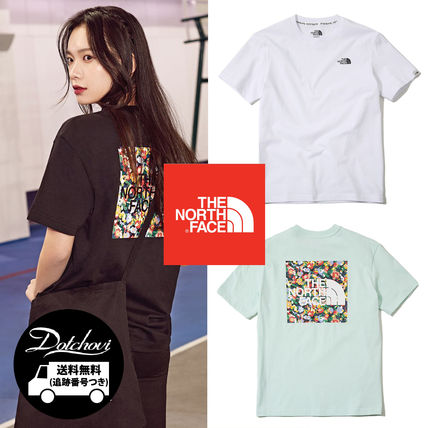5150d615e76 ... THE NORTH FACE T-Shirts Crew Neck Flower Patterns Unisex Street Style  Cotton Medium ...