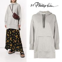 3.1 Phillip Lim Street Style Long Sleeves Plain Cotton Long Oversized