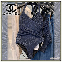 CHANEL Flower Patterns Beachwear