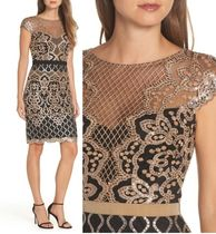 TADASHI SHOJI Flower Patterns Tight Sleeveless Medium Party Style Dresses