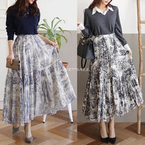 Flared Skirts Casual Style Long Maxi Skirts