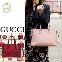 GUCCI A4 2WAY Leather Elegant Style Totes