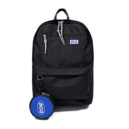 Casual Style Unisex Street Style A4 Plain Logo Backpacks