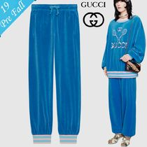 GUCCI Stripes Casual Style Sweat Plain Long Sweatpants