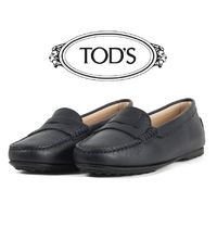 TOD'S Unisex Plain Leather Loafer Pumps & Mules