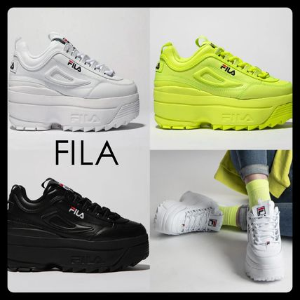 FILA Disruptor 2 2019 SS Platform Casual Style Leather Platform & Wedge  Sneakers