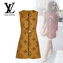 Louis Vuitton Monogram Sleeveless Medium Dresses
