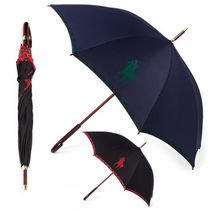 Ralph Lauren Other Check Patterns Unisex Plain Umbrellas & Rain Goods