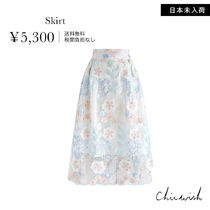 Chicwish Flower Patterns Medium Midi Skirts