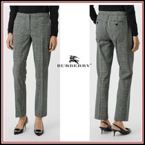 Burberry Other Check Patterns Wool Plain Long Pants