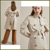 Massimo Dutti Plain Medium Office Style Trench Coats