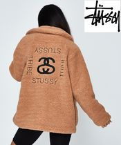 STUSSY Casual Style Faux Fur Plain Medium Jackets