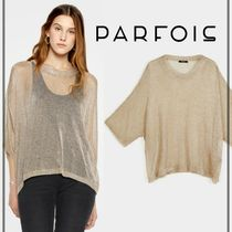 PARFOIS Dolman Sleeves Plain Medium Sweaters