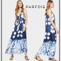 PARFOIS Sleeveless Tie-dye Long Slip Dresses Dresses