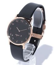 Agnes b Casual Style Leather Digital Watches