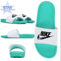Nike BENASSI Unisex Plain Shower Shoes Shower Sandals