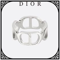 Christian Dior Unisex Street Style Silver Rings