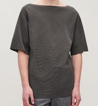COS Crew Neck Pullovers Cotton Short Sleeves Tops