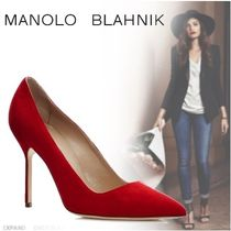 Manolo Blahnik Suede Plain High Heel Pumps & Mules