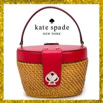 kate spade new york Heart Blended Fabrics Vanity Bags Leather Straw Bags