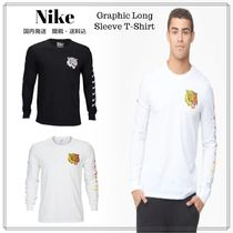 Nike Crew Neck Street Style Long Sleeves Other Animal Patterns
