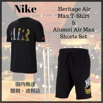 Nike AIR MAX Street Style Top-bottom sets