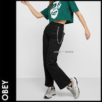 OBEY Casual Style Street Style Plain Cotton Long
