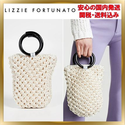 Casual Style Blended Fabrics Plain Purses Handbags