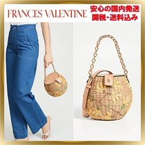 FRANCIS VALENTINE Flower Patterns Blended Fabrics 2WAY Chain Shoulder Bags