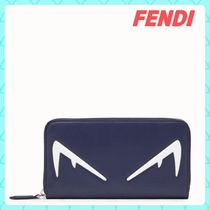 FENDI BAG BUGS Unisex Calfskin Street Style Plain Long Wallets