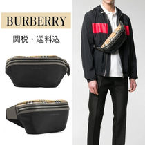 Burberry Other Check Patterns Unisex Nylon Hip Packs