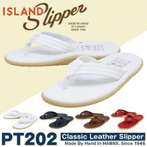 Island Slipper Leather Flipflop Logo Sports Sandals