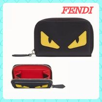 FENDI BAG BUGS Unisex Calfskin Street Style Plain Other Animal Patterns