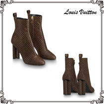326373f24a2b Louis Vuitton Monogram Block Heels Elegant Style Ankle   Booties Boots