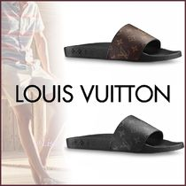 Louis Vuitton MONOGRAM Monogram Blended Fabrics Street Style Shower Shoes