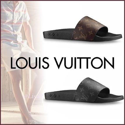 Louis Vuitton Sports Sandals Monogram Blended Fabrics Street Style Sport Sandals