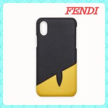 FENDI BAG BUGS Unisex Street Style Bi-color Plain Smart Phone Cases
