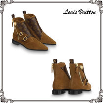 Louis Vuitton Monogram Leather Elegant Style Ankle & Booties Boots