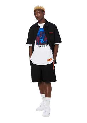 Heron Preston Crew Neck Crew Neck Cotton Short Sleeves Crew Neck T-Shirts 13