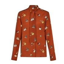 Louis Vuitton Silk Long Sleeves Medium Shirts & Blouses