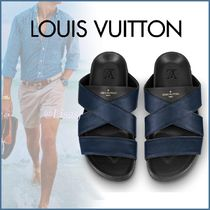Louis Vuitton MONOGRAM Monogram Blended Fabrics Street Style Bi-color Sport Sandals