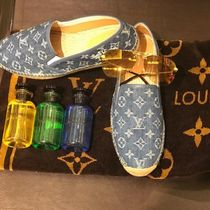 Louis Vuitton MONOGRAM Monogram Plain Toe Blended Fabrics Street Style Bi-color